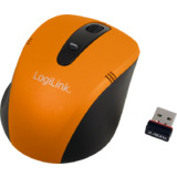 LogiLink optische Notebook Maus, kabellos, orange/schwarz