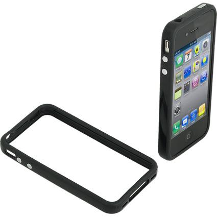 LogiLink Bumper-Schutzset für iPhone 4/4S, 4-teilig, schwarz