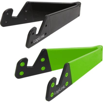 LogiLink Smartphone-/Tablet-PC-Halterungs-Set, schwarz/grün