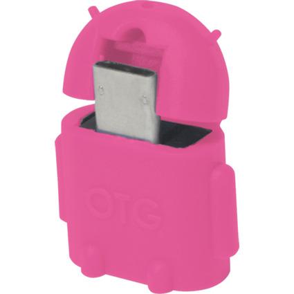 LogiLink USB 2.0 OTG Adapter, pink