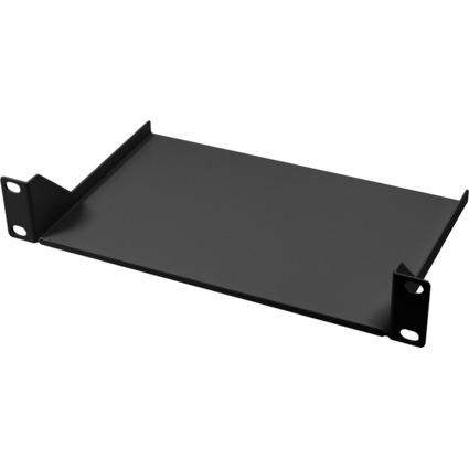 """LogiLink 10"""" Fachboden, 1 HE, Festeinbau, (T)150 mm, schwarz"""