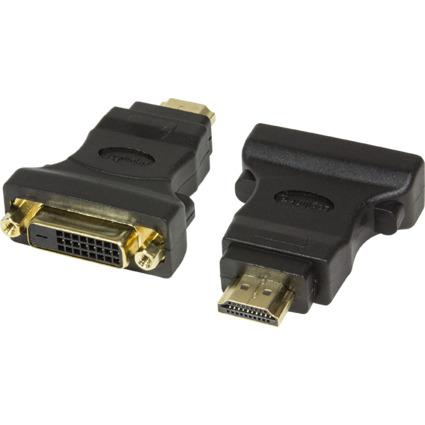 LogiLink HDMI Stecker - DVI-D 24+1 Kupplung Adapter, schwarz