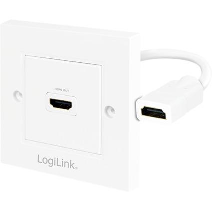 LogiLink Anschlussdose, 1 x HDMI, geschirmt, weiß