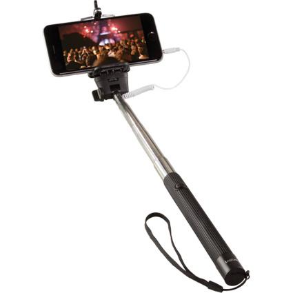 LogiLink Selfie Stange, mit Fernauslöser, 3,5 mm Klinke