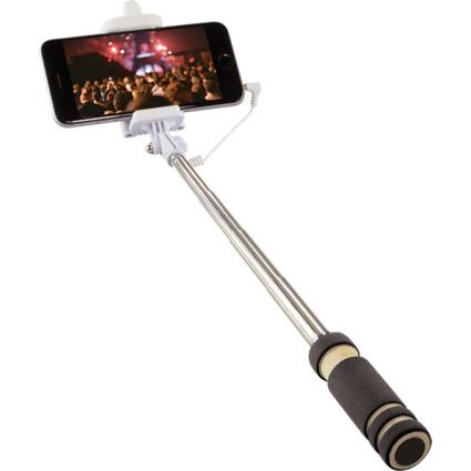 LogiLink Mini Selfie Stange, mit Fernauslöser, 3,5 mm Klinke