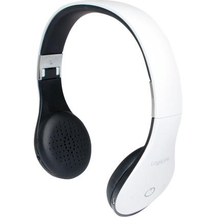 LogiLink Bluetooth V4.0 Headset mit Mikrofon, weiß-schwarz