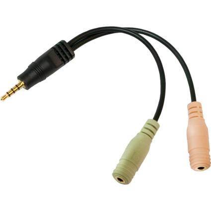 LogiLink Audiokabel, Klinkenstecker - 2 x Klinkenkupplung