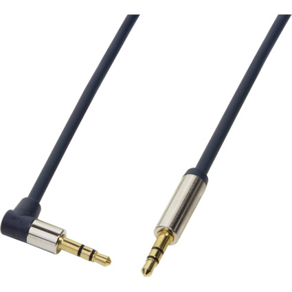 LogiLink Audiokabel, 2 x 3,5 mm Klinke, 0,3 m, gewinkelt