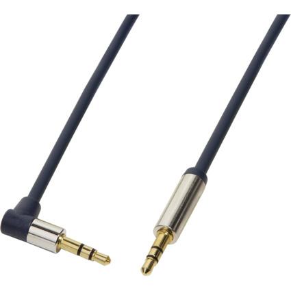 LogiLink Audiokabel, 2 x 3,5 mm Klinke, 0,5 m, gewinkelt