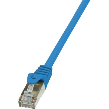 LogiLink Patchkabel, Kat. 5e, SF/UTP, 0,25 m, blau