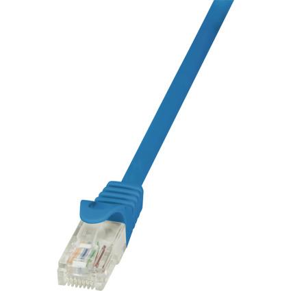 LogiLink Patchkabel, Kat. 5e, U/UTP, 0,25 m, blau