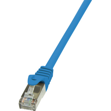 LogiLink Patchkabel, Kat. 6, F/UTP, 0,25 m, blau