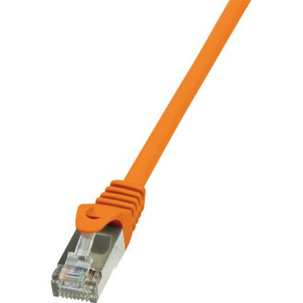 LogiLink Patchkabel, Kat. 6, F/UTP, 0,25 m, orange