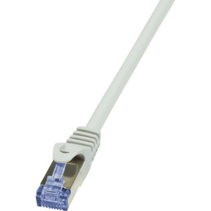 LogiLink Patchkabel, Kat. 6A, S/FTP, 0,25 m, grau