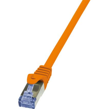 LogiLink Patchkabel, Kat. 6A, S/FTP, 0,25 m, orange