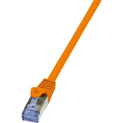 LogiLink Patchkabel PrimeLine, Kat.6A, S/FTP, 0,25 m, orange