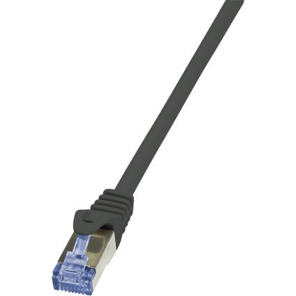 LogiLink Patchkabel PrimeLine, Kat.6A, S/FTP, 1,0 m, schwarz