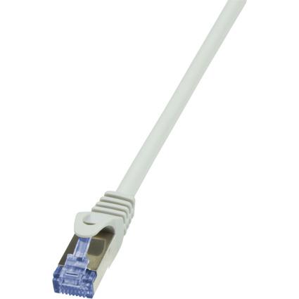 LogiLink Patchkabel PrimeLine, Kat. 6A, S/FTP, 2,0 m, grau