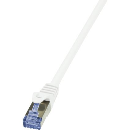 LogiLink Patchkabel PrimeLine, Kat. 6A, S/FTP, 5,0 m, weiß