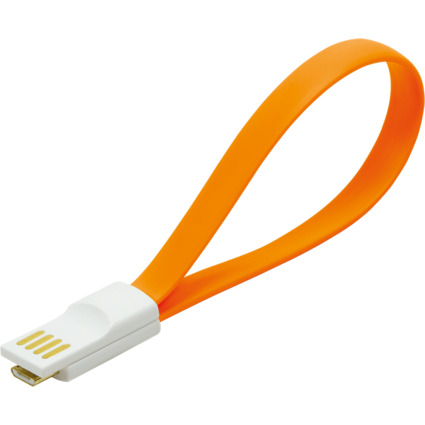 LogiLink USB 2.0 Kabel mit Magnet, orange