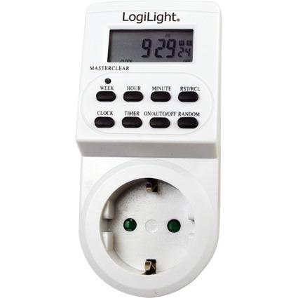 LogiLight Digitale Wochenzeitschaltuhr, Kunststoffgehäuse