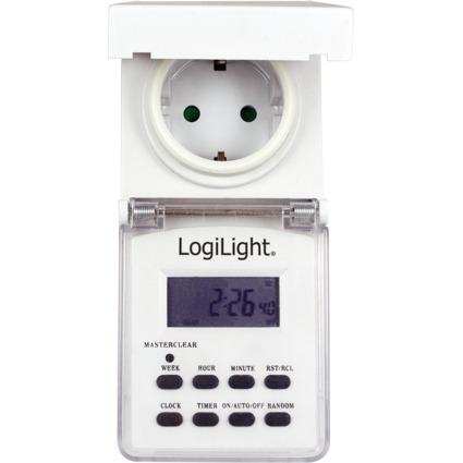 LogiLight Digitale Wochenzeitschaltuhr Outdoor, lichtgrau
