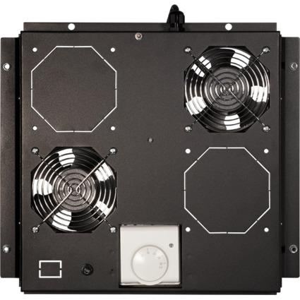 LogiLink Dachlüftereinheit, 2 Lüfter, schwarz (RAL9005)