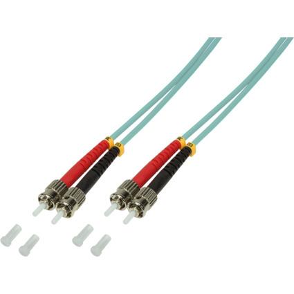 LogiLink LWL Patchkabel, 2 x ST - 2 x ST, OM3, 0,5 m