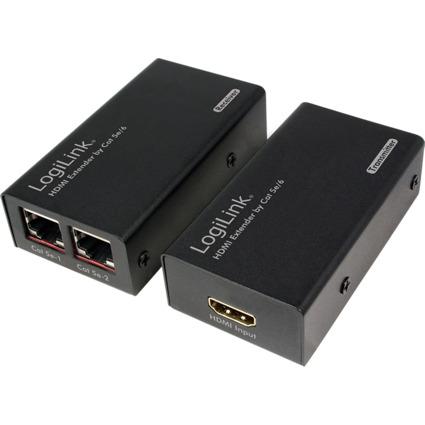 LogiLink HDMI Signalverstärker-Set, Kat.5/6, 30 m Reichweite