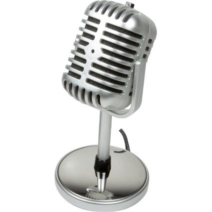 "LogiLink Mikrofon ""Retro Style"", Anschluss: 3,5 mm Klinke"
