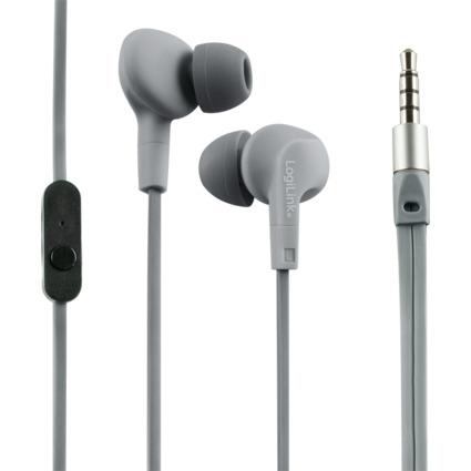 LogiLink In-Ear Headset, wassergeschützt, grau