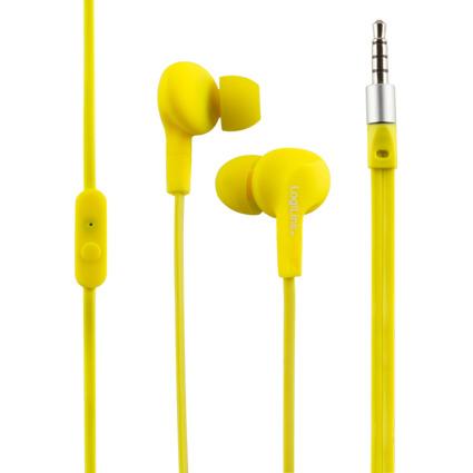 LogiLink In-Ear Headset, wassergeschützt, neongelb