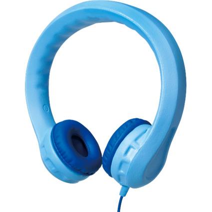 LogiLink Kinder-Kopfhörer, kindersicher, blau