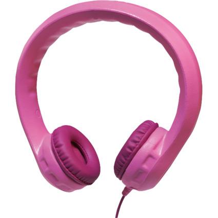 LogiLink Kinder-Kopfhörer, kindersicher, rosa