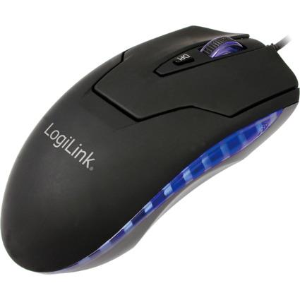 LogiLink LED Laser Maus, kabelgebunden, USB-Anschluss
