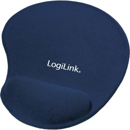 LogiLink Gel Handgelenkauflage mit Maus Pad, blau