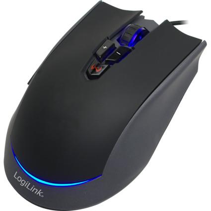 LogiLink Optische Gaming Maus, kabelgebunden, schwarz