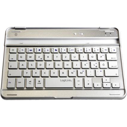 LogiLink Bluetooth Tastatur, für iPad Mini, silber