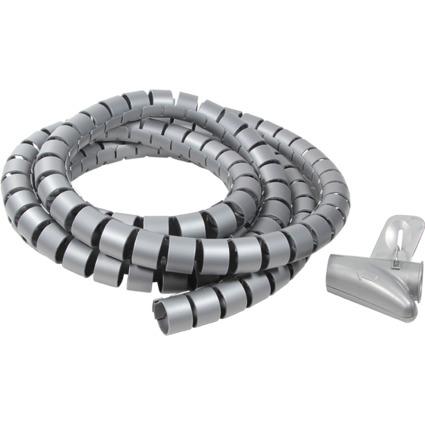 LogiLink Kabelbündler, 2,5 m, Durchmesser: 25 mm, silber