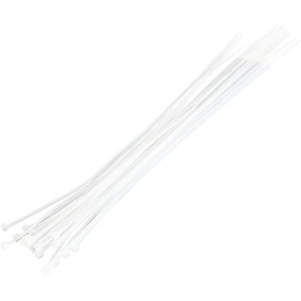 LogiLink Kabelbinder, 500 x 4,4 mm, Nylon, weiß
