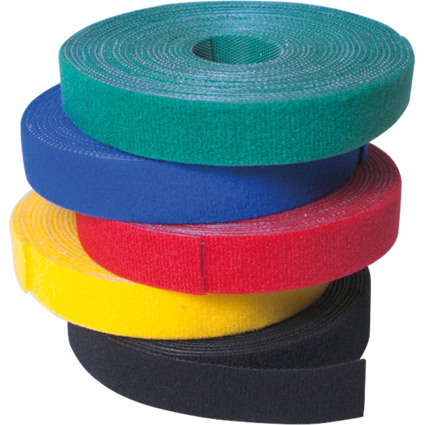 LogiLink Klettband, 16 mm x 4 m, schwarz