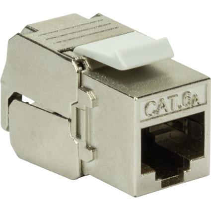 LogiLink Keystone Modul Kat.6A, geschirmt, grau