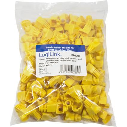 LogiLink Knickschutztülle für RJ45 Stecker, gelb