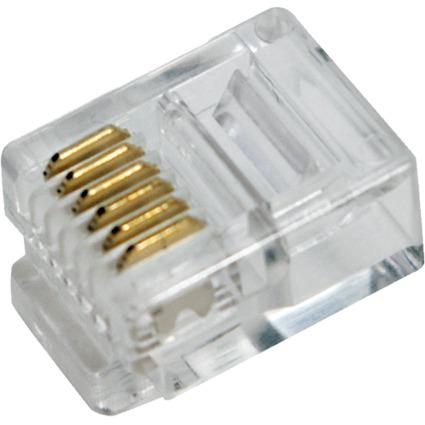 LogiLink RJ12 Stecker für Flachbandkabel, ungeschirmt