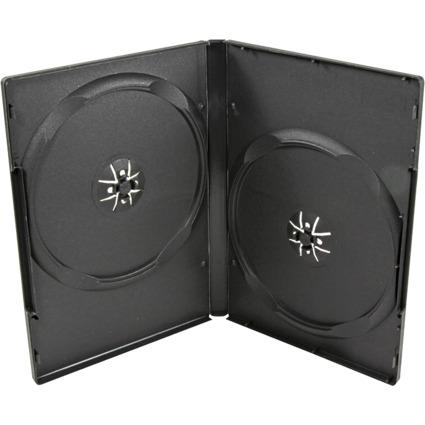 LogiLink DVD-Doppel-Leerhülle, Jewel Case, für 2 DVDs