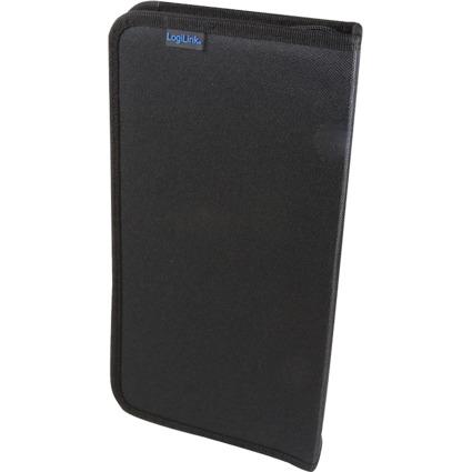 LogiLink CD-/DVD-Tasche, für 48 CDs/DVDs, Nylon, schwarz