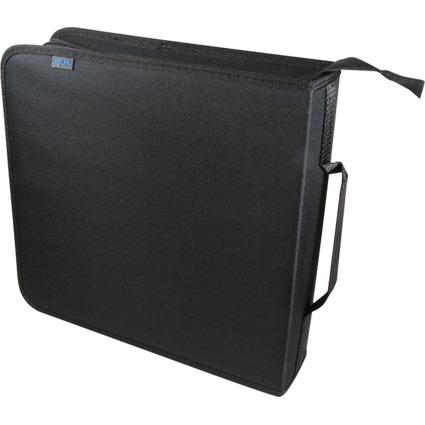 LogiLink CD-/DVD-Tasche, für 200 CDs/DVDs, Nylon, schwarz