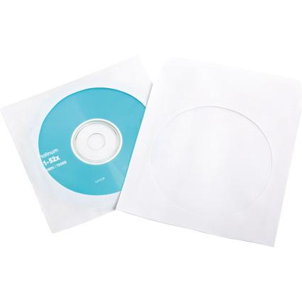 LogiLink CD-/DVD-Papiertasche, weiß, mit Sichtfenster