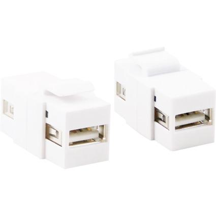 LogiLink Keystone Verbinder USB 2.0, weiß