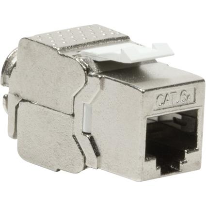LogiLink Keystone Modul Kat.6A, Klasse EA, geschirmt, grau